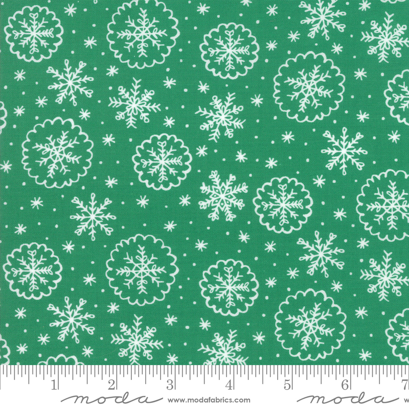 Deck the Halls - Snowflake -  Green