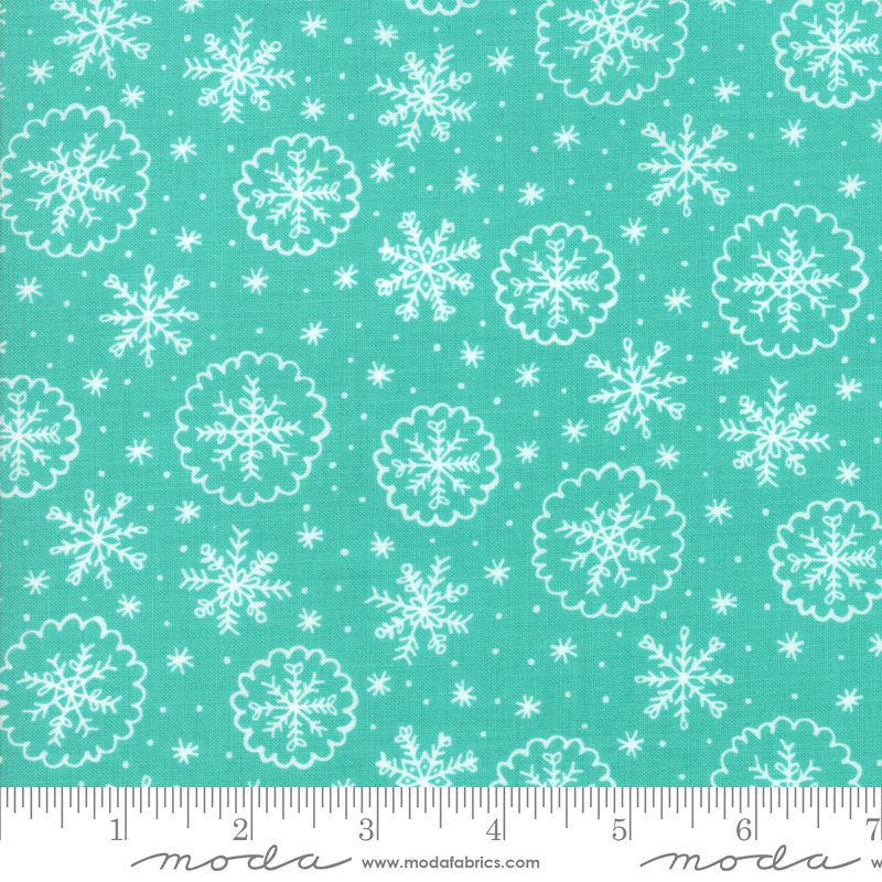 Deck The Halls Snowflakes Aqua