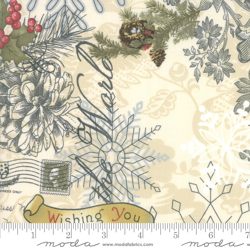 Marches De Noel Multi designed by 3 Sisters for Moda, 44230-11