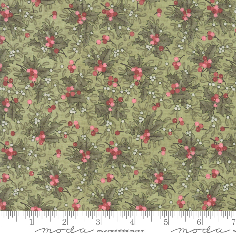 Marches De Noel Mistletoe designed by 3 Sisters for Moda, 44234-13