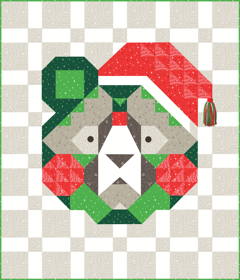Holiday Bear Pattern