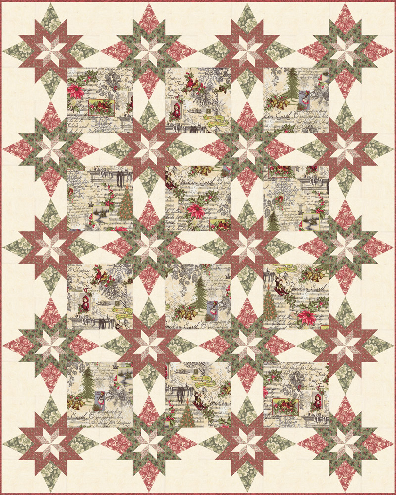 Marches De Noel Quilt Kit by 3 Sisters for Moda KIT44230
