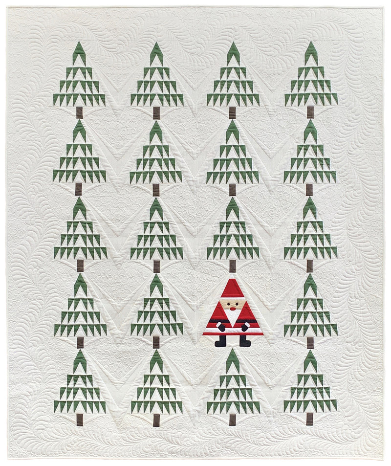 Santa in the Pines Quilt and Runner Kit