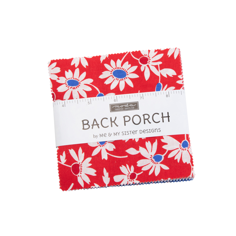 Back Porch Charm Pack, 42 - 5 squares, designed by Me and My Sister Designs for Moda