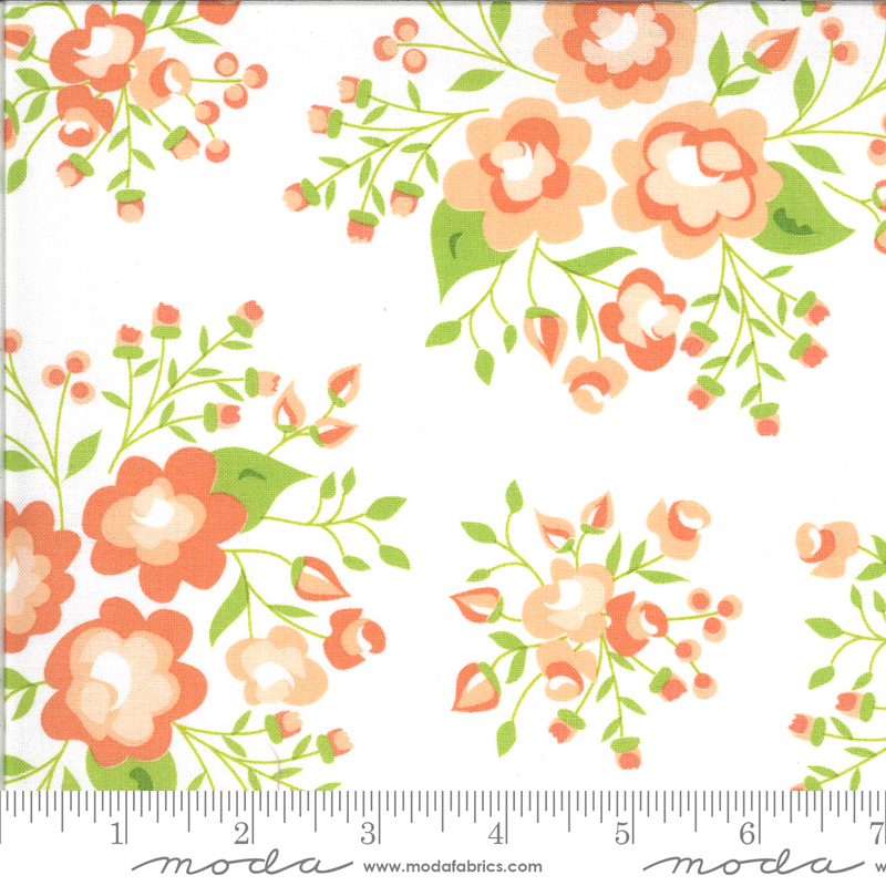 Apricot Ash Large Floral Cloud