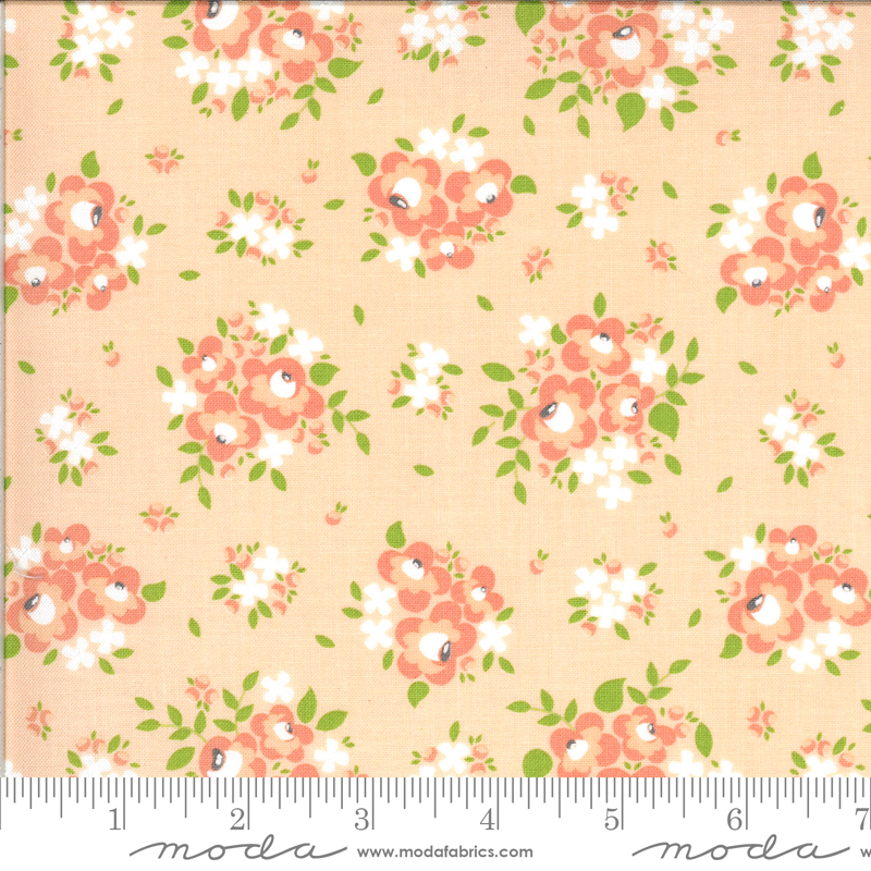 Apricot Ash Small Floral on Apricot by Corey Yoder for Moda Fabrics