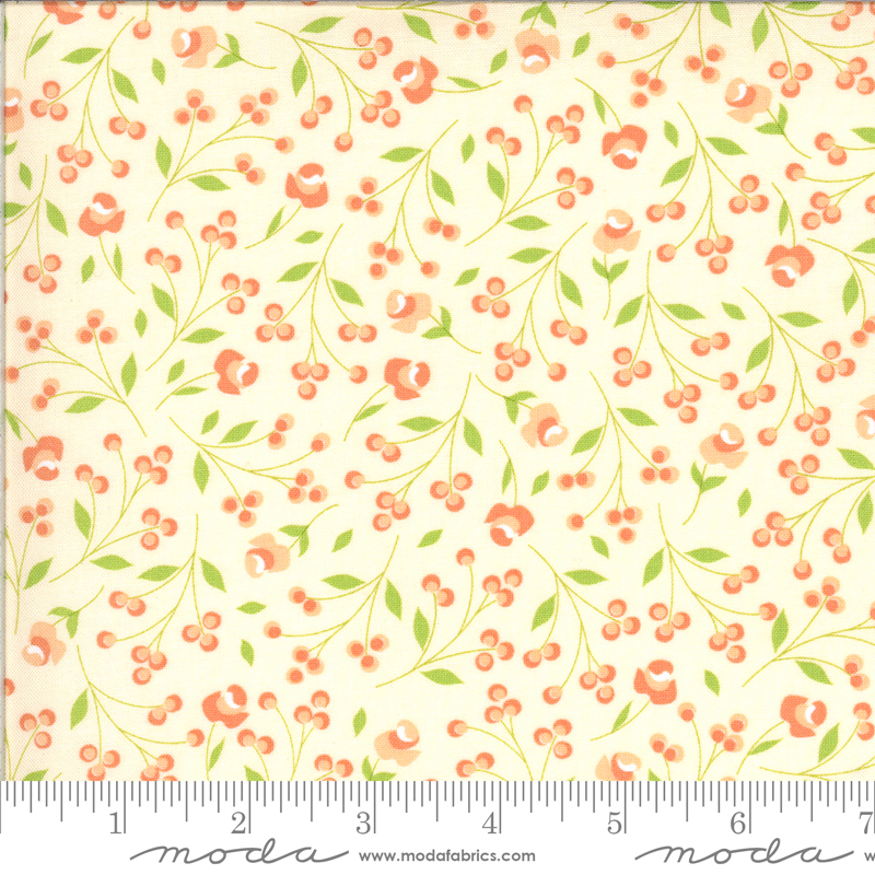 Apricot Ash mini floral on  Babys Breath by Corey Yoder for Moda Fabrics