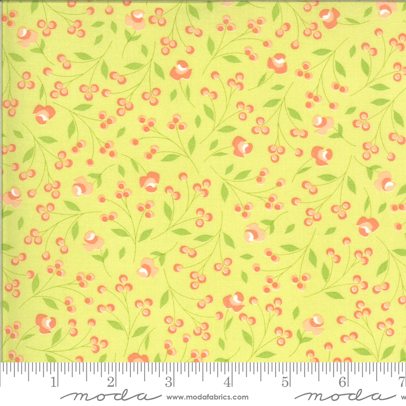 Apricot Ash Lime Small Floral