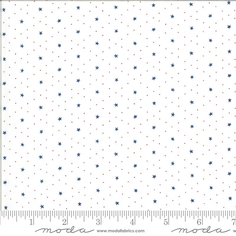 Harbor Springs - Star Grid Cream Blue