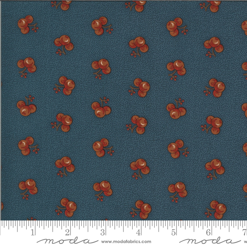 Yesterday Medium Blue Floral Yardage