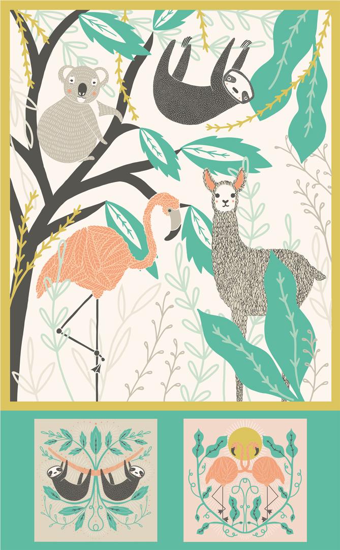 Zoology Panel 36 x 58 Multi