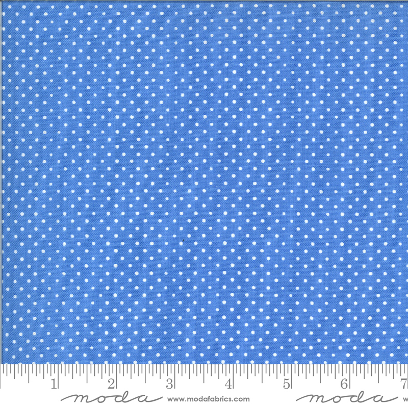 Moda On the Farm Pindots - Blue