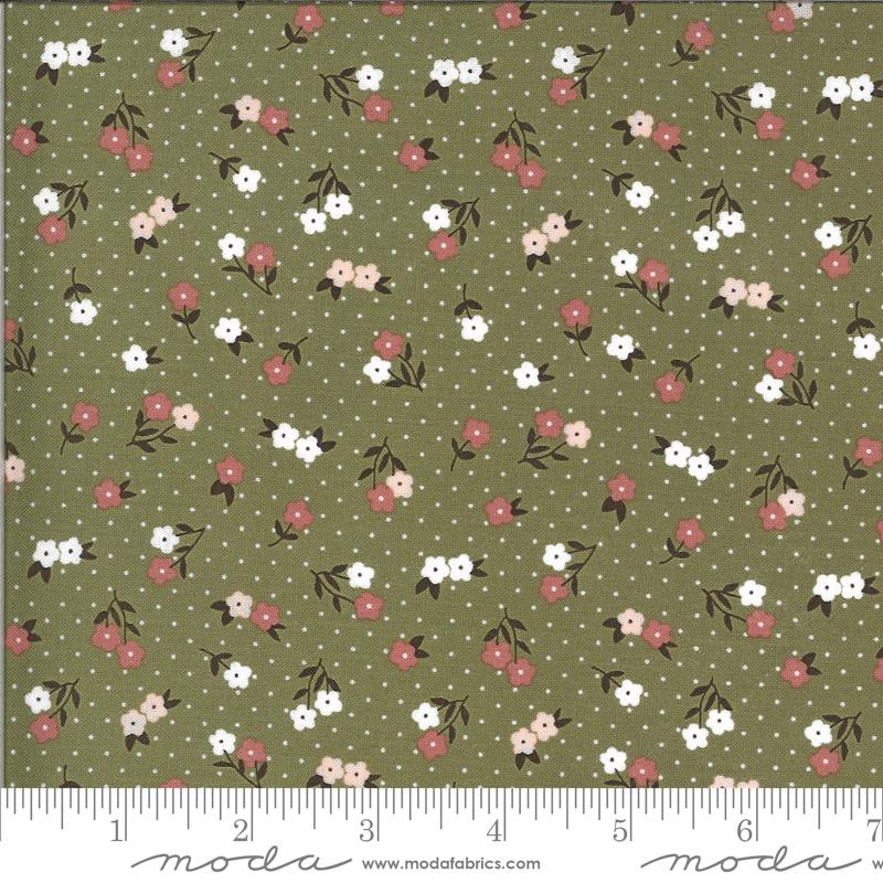 Folktale by Lella Boutique - Floral - Olive - Moda 5123 15