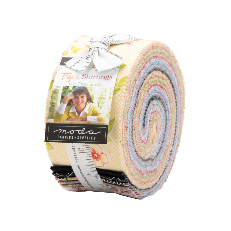 Item#13075.JR - Figs Shirtings Jelly Roll - Moda - Fig Tree