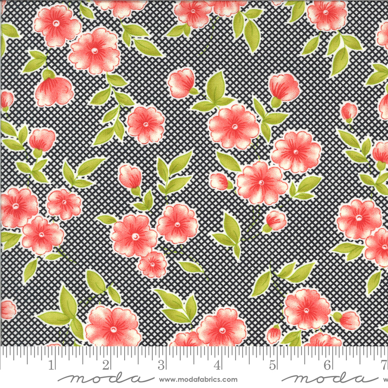 Figs Shirtings Floral Raven 20390 11