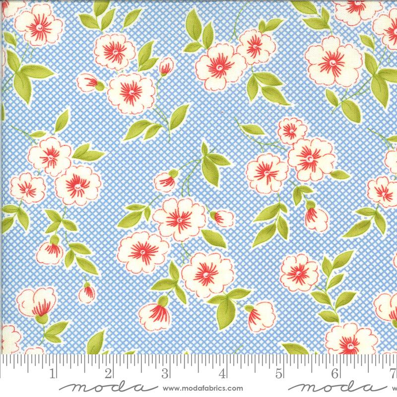 Figs Shirtings Floral Cornflower 20390 12