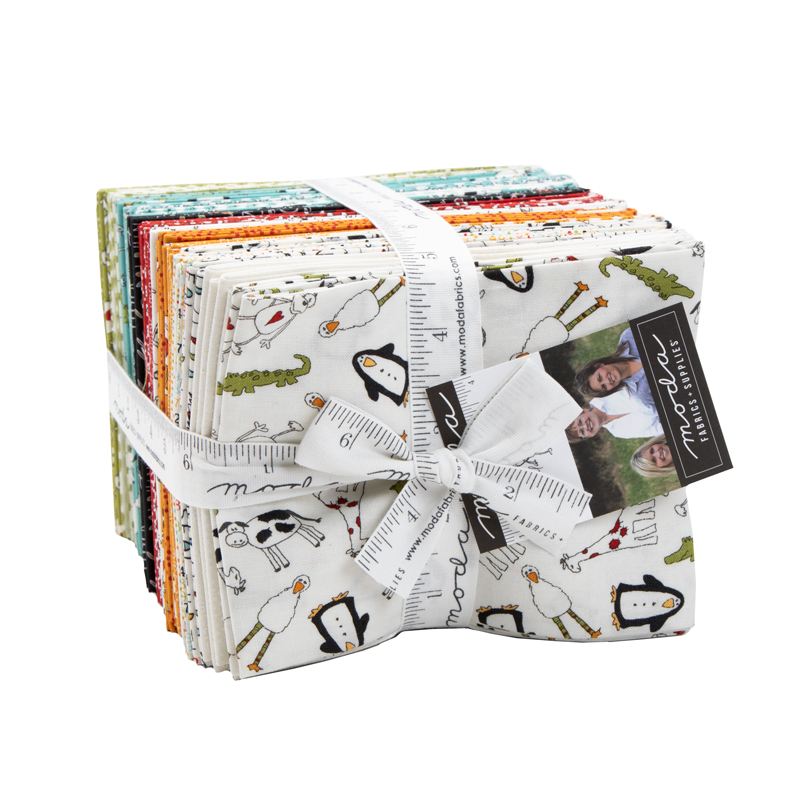 Animal Crackers Fat Quarter Bundle (40 skus) - Sweetwater - Moda
