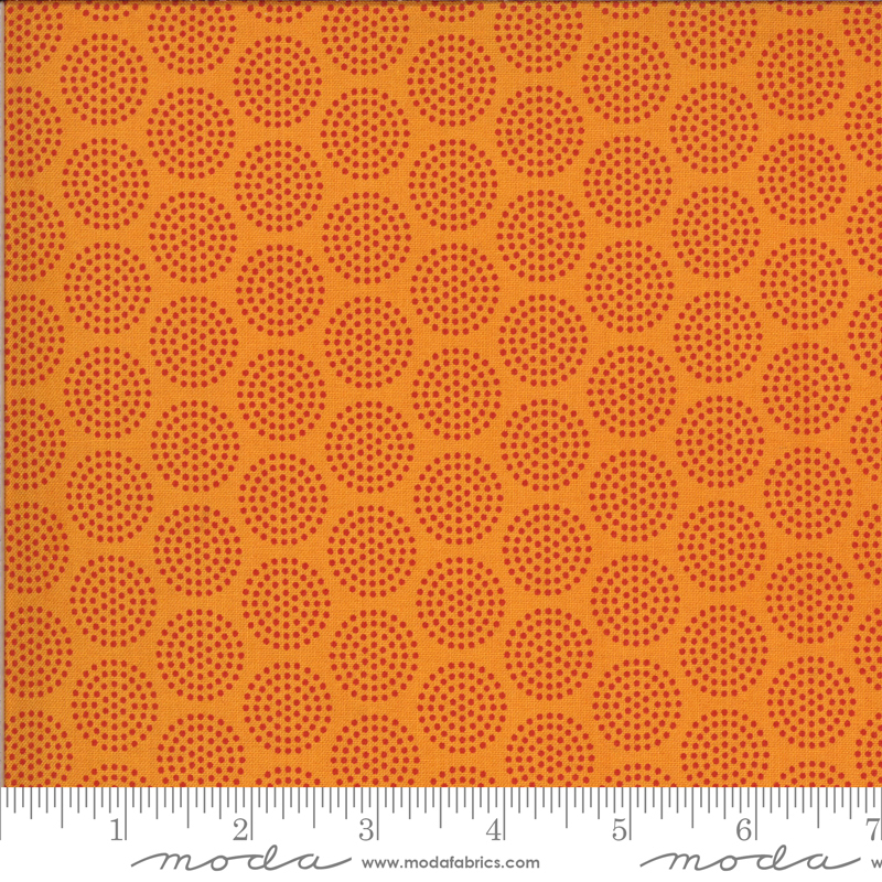 Moda Animal Crackers Dotty Dots - Tangerine