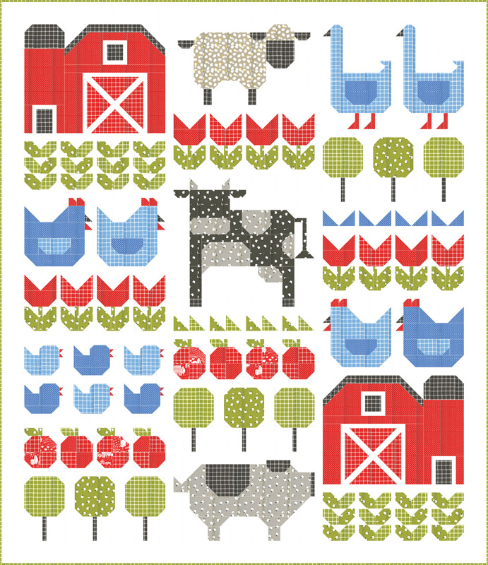 On The Farm Quilt Kit by Stacy Iest Hsu