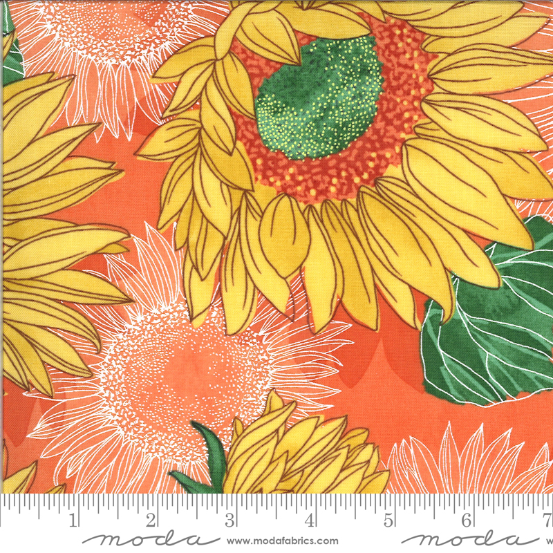 PRE-ORDER Solana 48680-18 Sunflowers Clementine