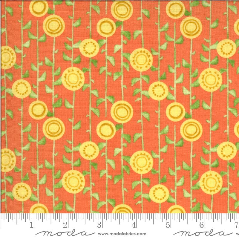 Solana Stalks Clementine (48683 18) designed by Robin Pickens