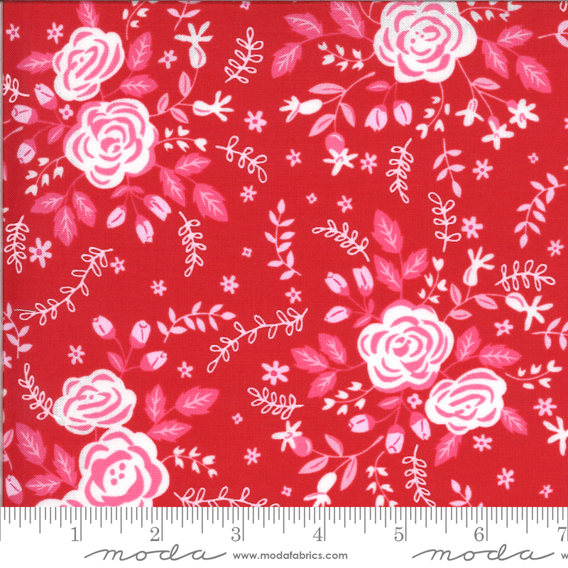 Be Mine by Stacy Iest Hsu - Roses - Red - Moda 20711 14