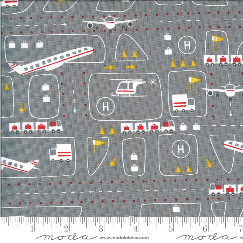 Airport Fabric - Steel On The Go Collection from Moda Fabrics