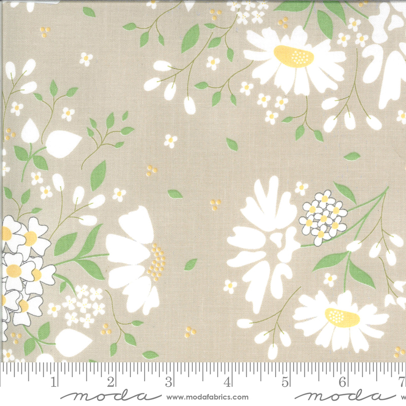 Spring Brook Stone large floral on taupe