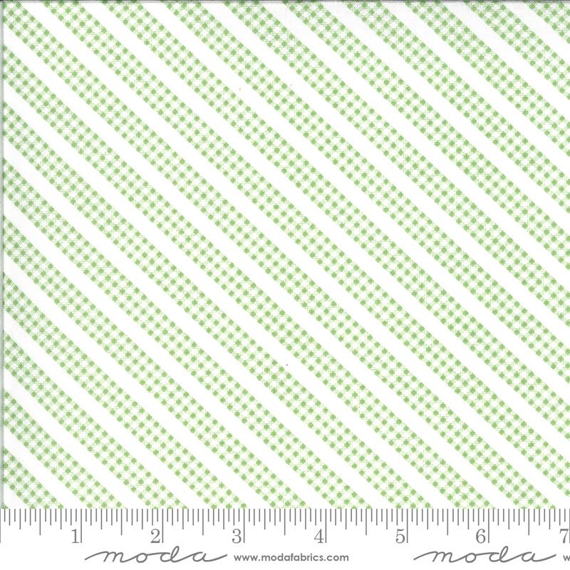 Spring Brook Sprout green gingham stripe