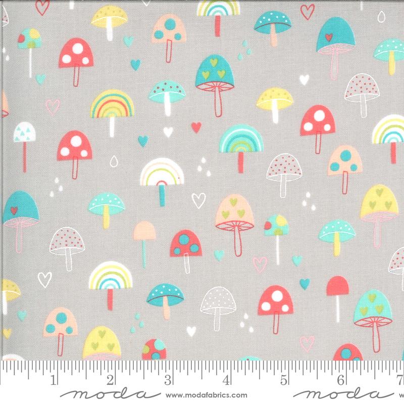 Hello Sunshine by Abi Hall - Mushrooms - Grey - Moda 35351 12