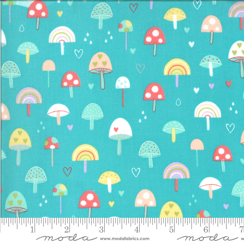 3732 Hello Sunshine Mushrooms Aqua