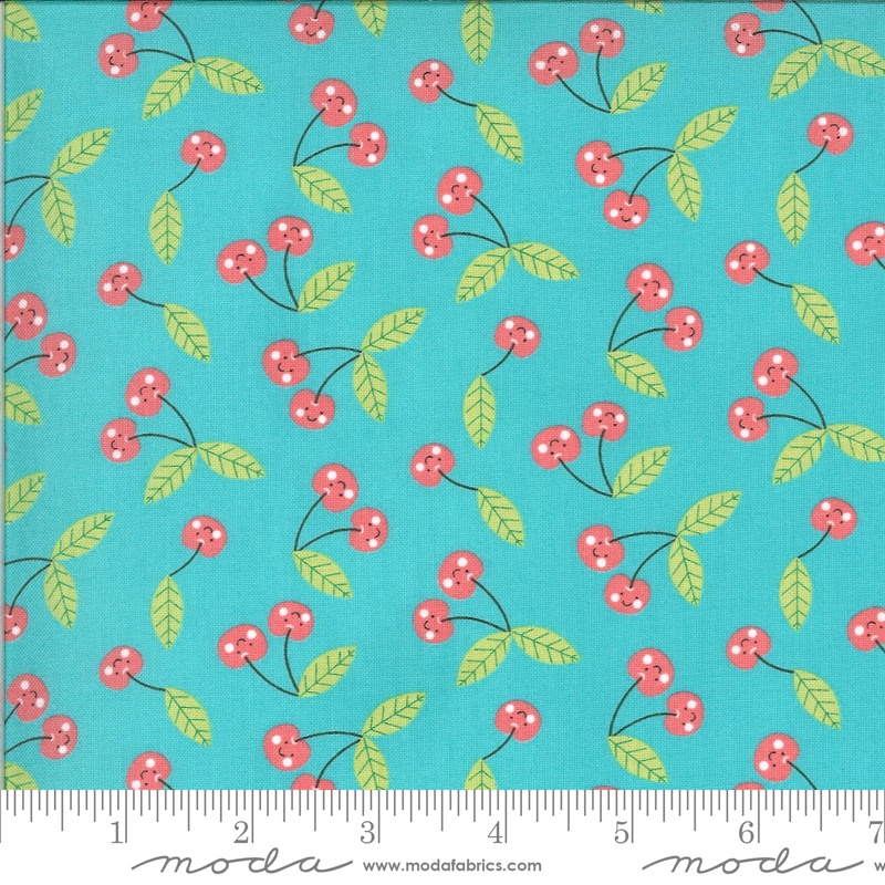 Hello Sunshine 35353-16 Cherries Aqua