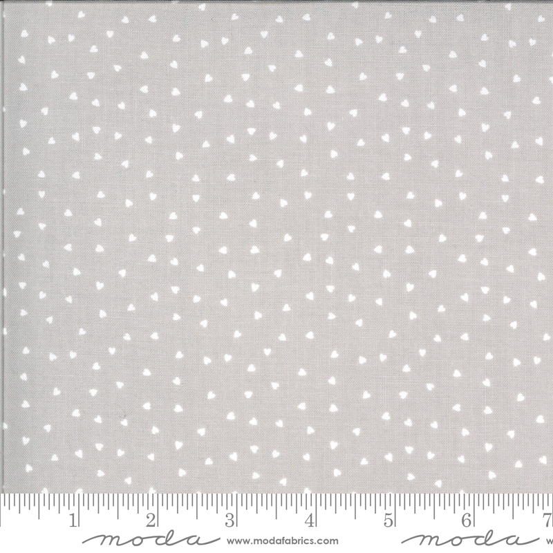Hello Sunshine by Abi Hall - Hearts - Grey - Moda 35355 12