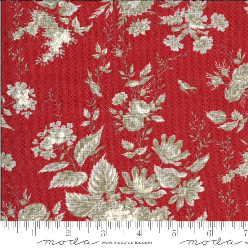 Roselyn Floral Scarlet