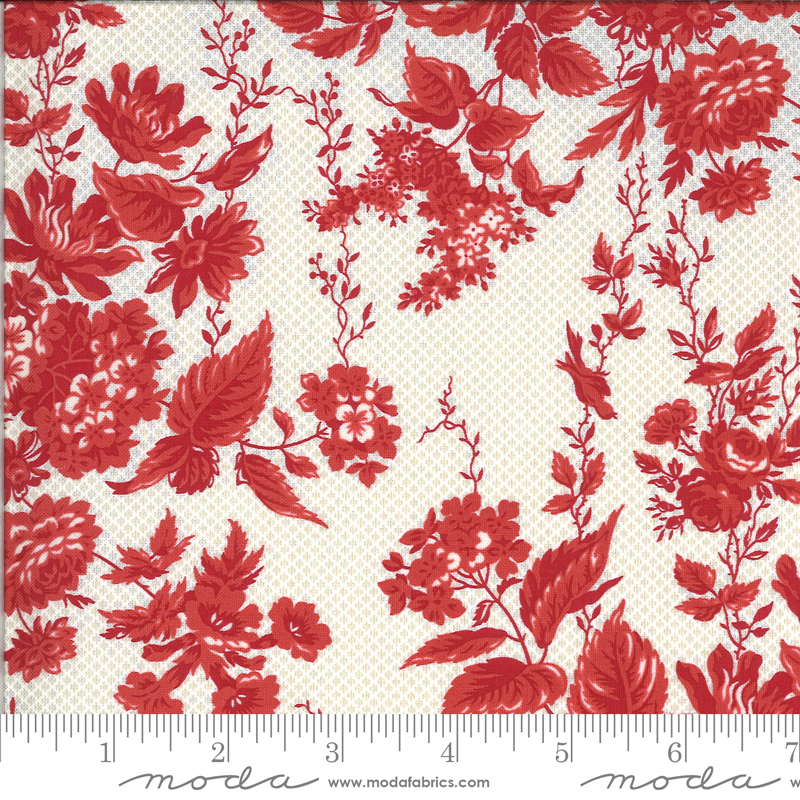 Roselyn Floral Taupe Red