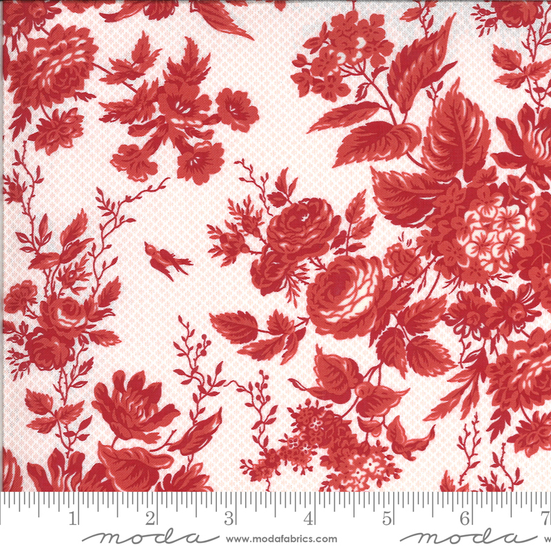 Roselyn Floral Rose Red (14910 24) designed by Minick & Simpson