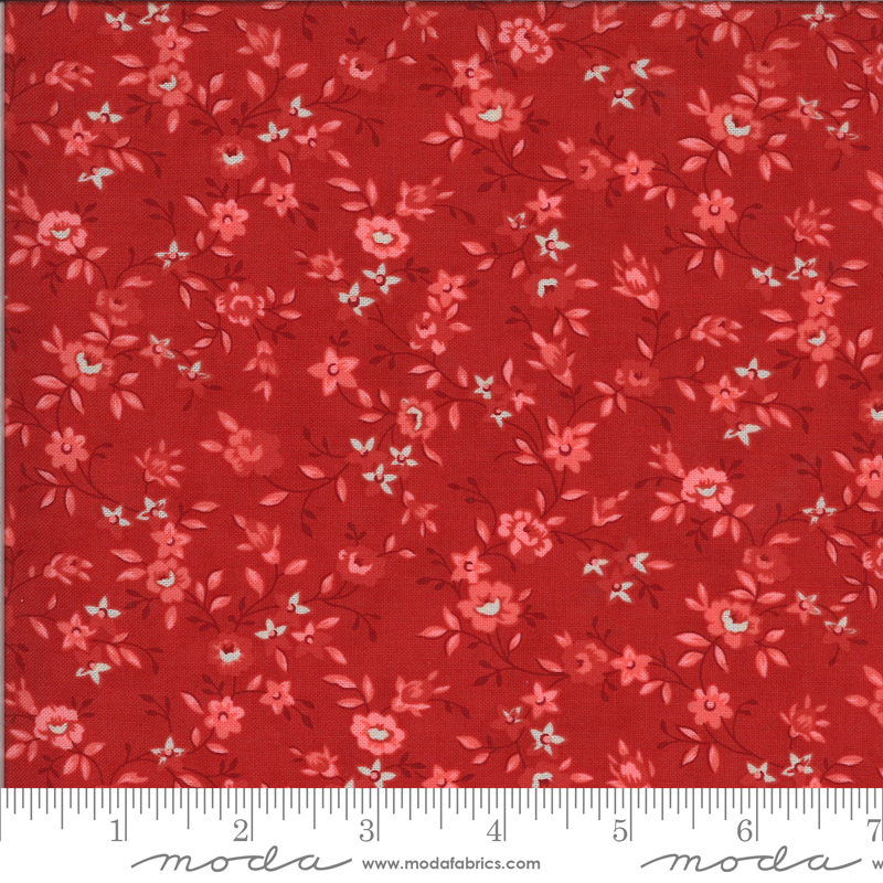 Roselyn Flower Vine Cranberry (14912 14) designed by Minick & Simpson