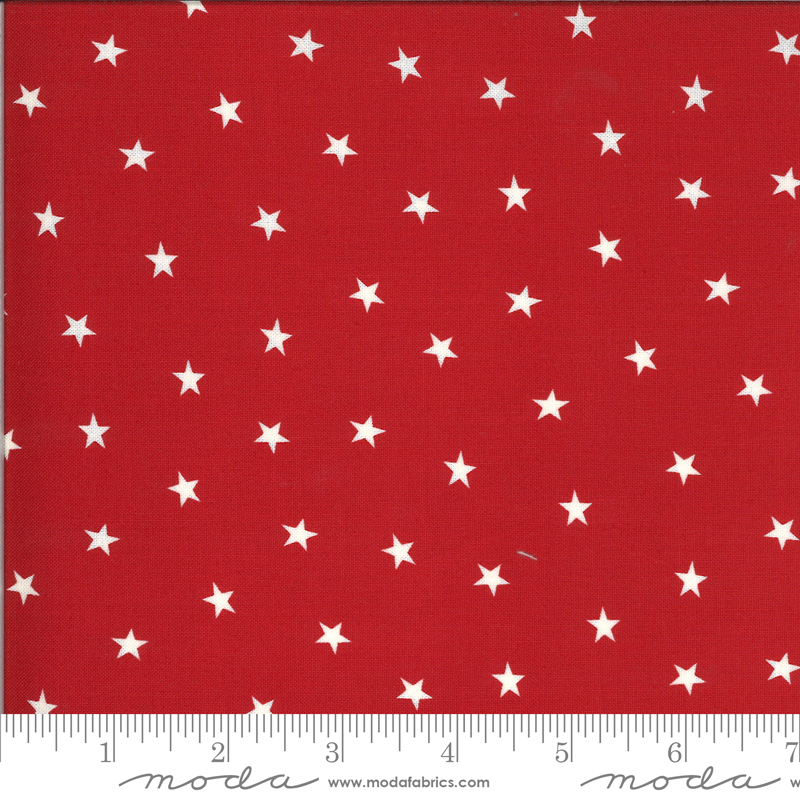 Moda Roselyn Scattered Star Scarlet 14914 13