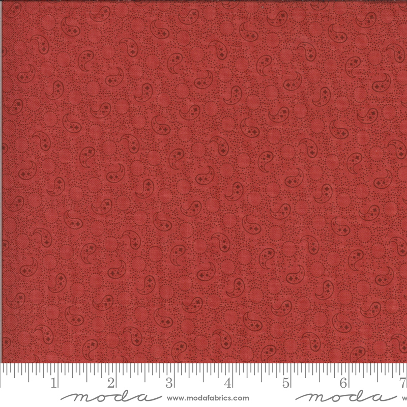 514915 - 12 Roselyn Paisley - Warm Red (21C)