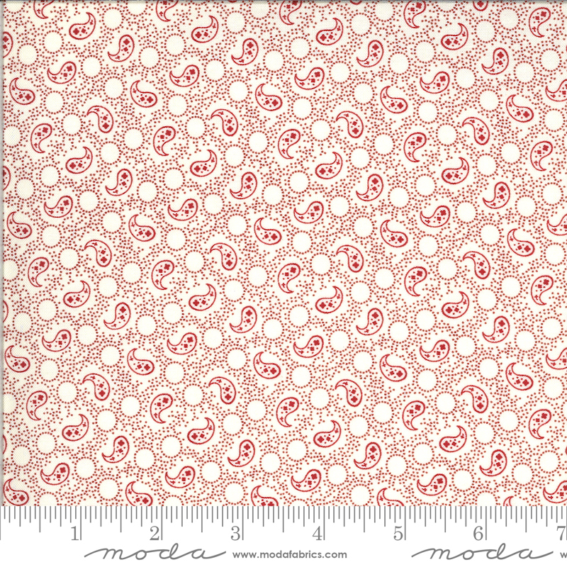 Roselyn Paisley Ivory Red