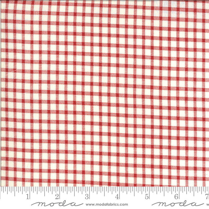 Roselyn Gingham Ivory Red