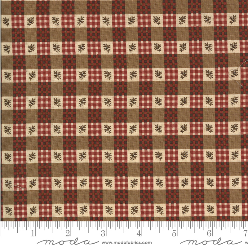 Checked Fat Quarter - Tan Hopewell Collection by Jo Morton from Moda Fabrics