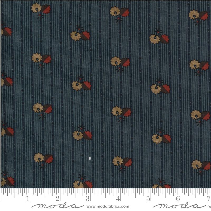 Posies Fabric - Indigo Hopewell Collection by Jo Morton from Moda Fabrics