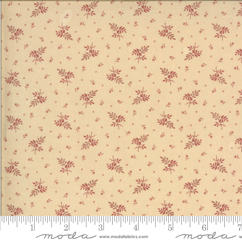 Sprigs Fat Quarter - Cream Pink Hopewell Collection by Jo Morton from Moda Fabrics