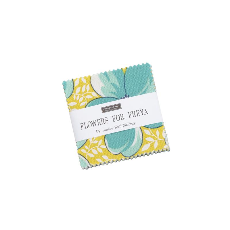 Flowers For Freya Mini Charm (42 Pieces) - Linzee Kull McCray - Moda