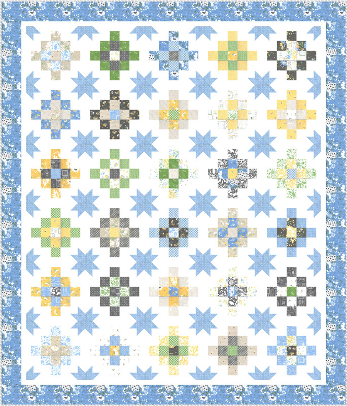 Spring Brook Quilt Kit by Corey Yoder for Moda KIT29110