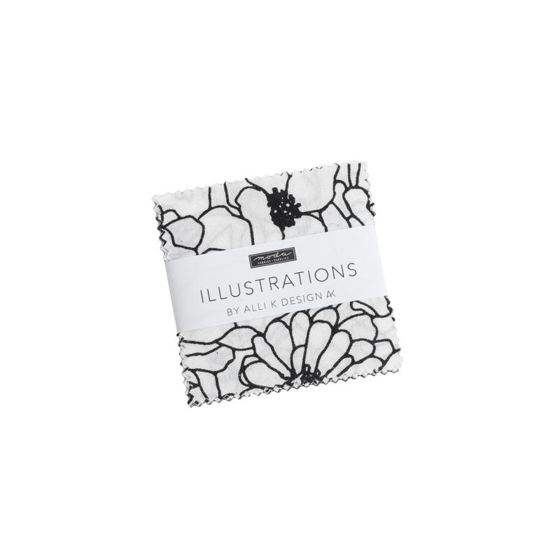 Illustrations Mini Charm (42 Pieces) - Alli K Designs - Moda