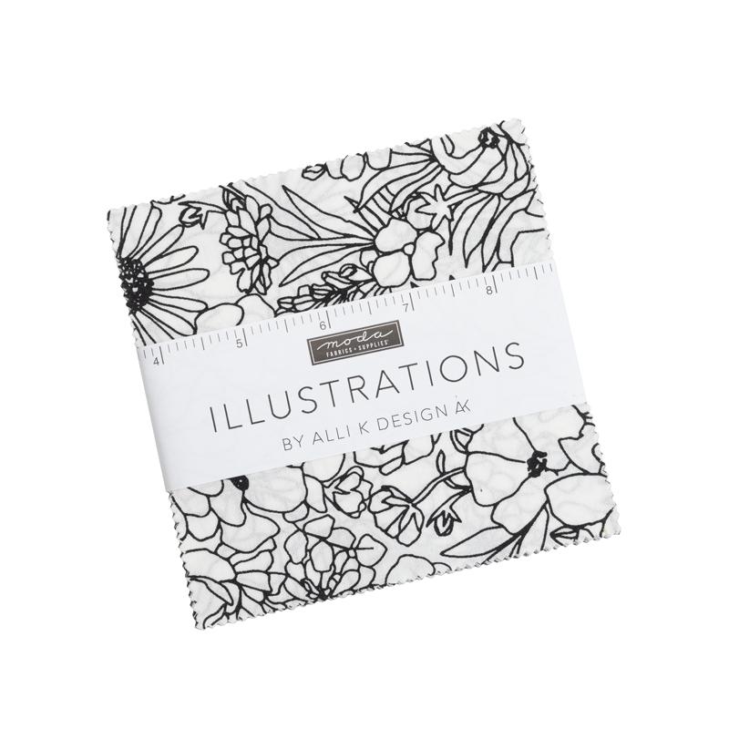 Illustrations Charm Pack (42 Pieces) - Alli K Designs - Moda