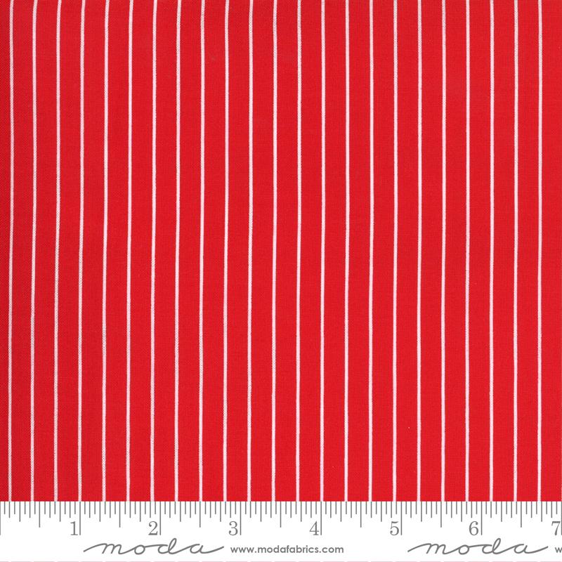 Sunday Stroll - Wide Stripe - Red