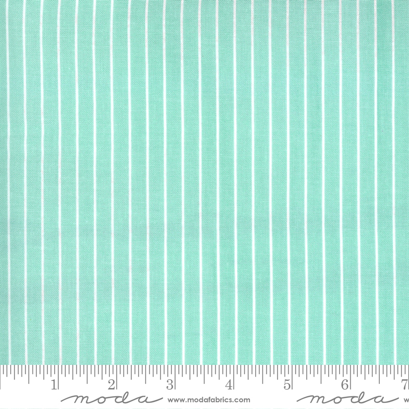 Sunday Stroll - Wide Stripe - Aqua